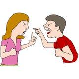 Paar het vechten vector illustratie