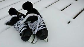 Paar hockeyvleten Stock Foto