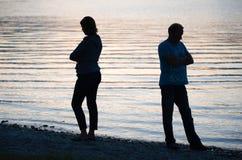 Paar ist verärgert Lizenzfreie Stockbilder