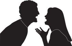 Paar-Kämpfen Stockbild