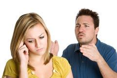 Paar-Kämpfen Stockfoto
