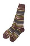 Paar kleurrijke sokken stock foto's