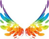 Paar kleurrijke vleugels op wit vector illustratie