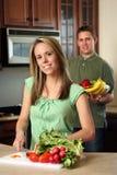 Paar-Kochen Lizenzfreie Stockfotografie