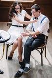 Paar in Koffie Royalty-vrije Stock Afbeelding