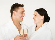 Paar in kuuroord Royalty-vrije Stock Foto