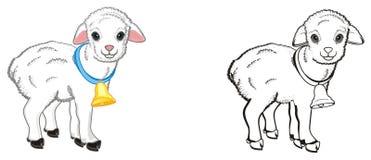 Paar Lammeren stock illustratie