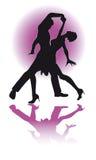 Paar Latino Dansen/eps Stock Afbeelding