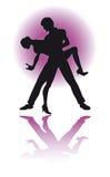 Paar Latino Dansen/eps Royalty-vrije Stock Afbeeldingen