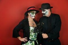 Paar-Liebe am Tag der Toten Lizenzfreie Stockfotografie