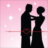 Paar in Liefde Stock Afbeeldingen