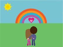 Paar in liefde vector illustratie