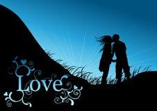 Paar in Liefde stock illustratie