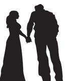 Paar in Liefde 2 stock illustratie