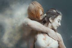 Paar in liefde die en danselement maken dansen stock foto's