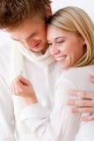Paar in liefde - romantische verlovingsring Stock Fotografie