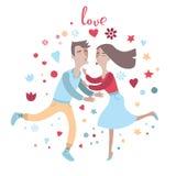 Paar in liefdekus elkaar Royalty-vrije Stock Foto's
