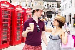 Paar in Londen Stock Afbeelding