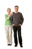Paar: Man en Vrouw die zich verenigen Royalty-vrije Stock Foto