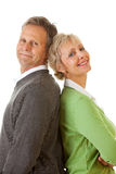 Paar: Man en Vrouw die zich verenigen Royalty-vrije Stock Afbeeldingen