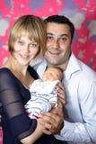 Paar met eerste nieuwe baby Stock Afbeelding