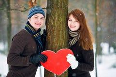 Paar met hart Royalty-vrije Stock Foto's