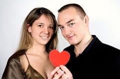 Paar met hart Stock Fotografie