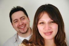 Paar met nadruk op vrouw royalty-vrije stock foto