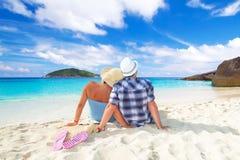Idyllische vakantie samen Stock Foto's