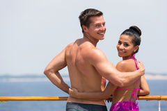 Paar op cruise Stock Fotografie