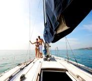 Paar op cruise. Stock Afbeelding