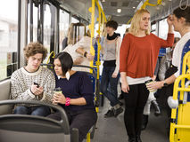 Paar op de bus Royalty-vrije Stock Afbeelding