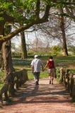 Paar op een brug Royalty-vrije Stock Foto
