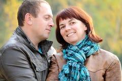 Paar op een gang Royalty-vrije Stock Foto