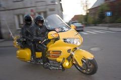 Paar op Motorfiets stock foto