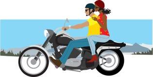 Paar op motorfiets Stock Afbeeldingen