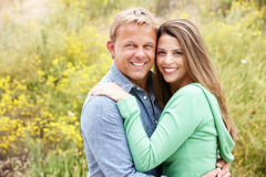 Paar in openlucht Royalty-vrije Stock Foto's