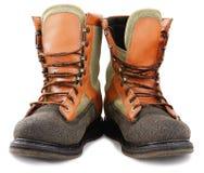 Paar oude het waden laarzen Stock Afbeeldingen