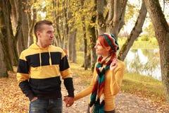 Paar in park Royalty-vrije Stock Foto