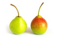 Paar peren stock afbeelding