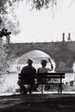 Paar in Praag Stock Foto's