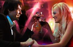 Paar in restaurantstaaf Royalty-vrije Stock Fotografie