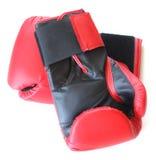 Paar rode handschoenen Royalty-vrije Stock Foto's