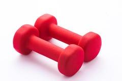 Paar rode rubber-met een laag bedekte domoren stock foto
