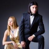 Paar in romantisch concept Stock Afbeelding