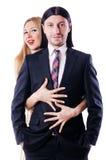 Paar in romantische liefde Royalty-vrije Stock Afbeeldingen