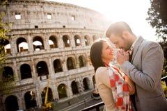 Paar in Rome royalty-vrije stock fotografie