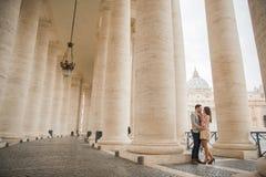Paar in Rome Royalty-vrije Stock Afbeeldingen
