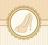 Paar schoenen met hoge hiel stock illustratie