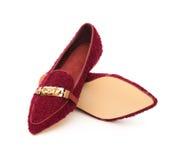 Paar in schoenen voor dame Royalty-vrije Stock Foto's